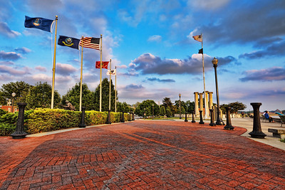 Flags over Four Freedoms Monument