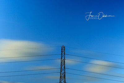 Moving Clouds behind a pylon