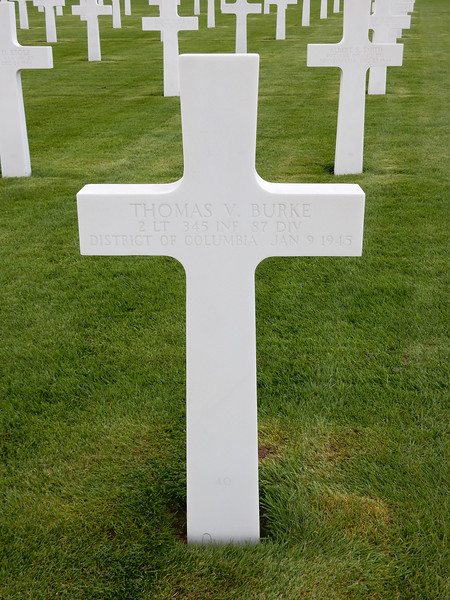 Thomas V. Burke<br /> 2 LT  345 INF  87 DIV<br /> District of Columbia  Jan 9 1945
