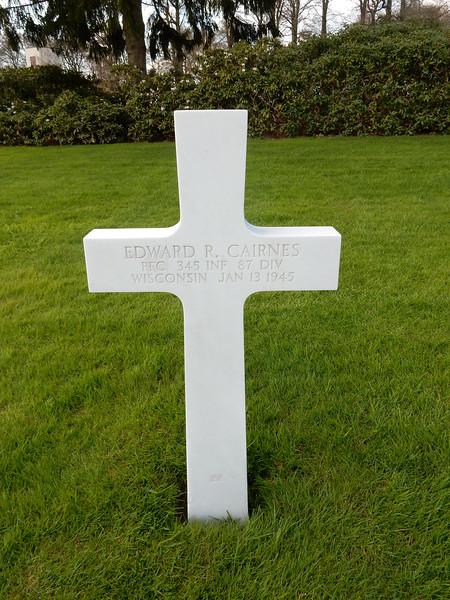 Edward R. Cairnes<br /> PFC  345 INF  87 DIV<br /> Wisconsin  Jan 13 1945