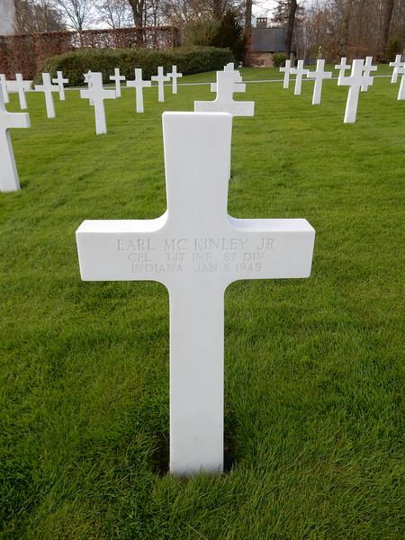 Earl McKinley Jr<br /> CPL  347 INF  87 DIV<br /> Indiana  Jan 8 1945