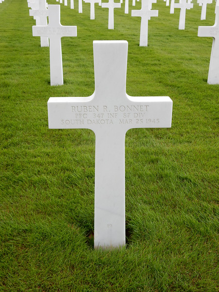 Ruben R. Bonnet<br /> PFC  347 INF  87 DIV<br /> South Dakota  Mar 25 1945