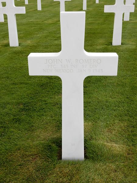 John W. Romero<br /> PFC  345 INF  87 DIV<br /> New Mexico  Jan 9 1945