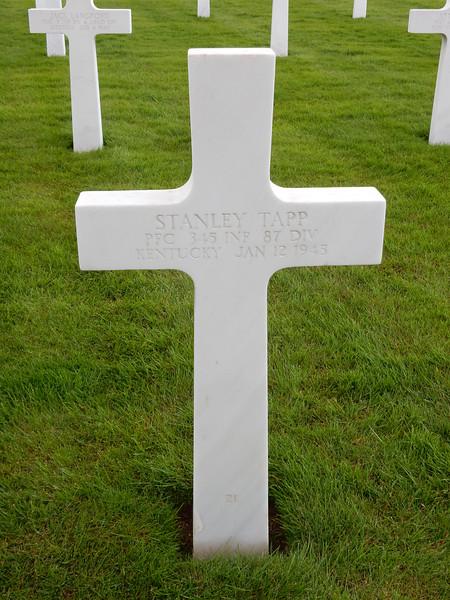 Stanley Tapp<br /> PFC  345 INF  87 DIV<br /> Kentucky  Jan 12 1945