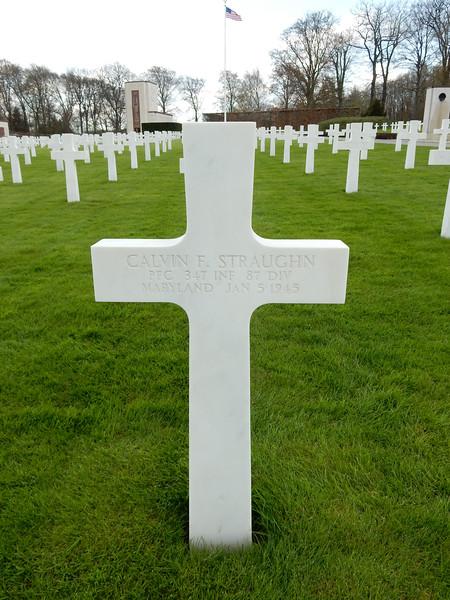 Calvin F. Straughn<br /> PFC  347 INF  87 DIV<br /> Maryland  Jan 5 1945