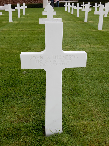 John D. Thompson<br /> PFC  345 INF  87 DIV<br /> Iowa  Jan 3 1945