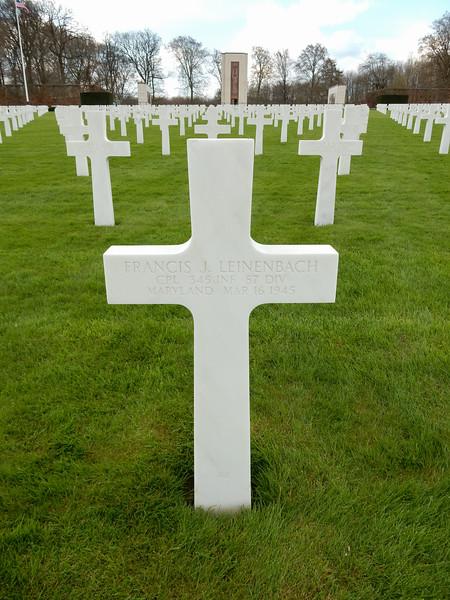 Francis J. Leinenbach<br /> CPL  345 INF  87 DIV<br /> Maryland  Mar 16 1945