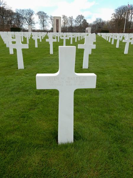Allen W. Bailes Jr<br /> PFC  345 INF  87 DIV<br /> Virginia  Mar 17 1945
