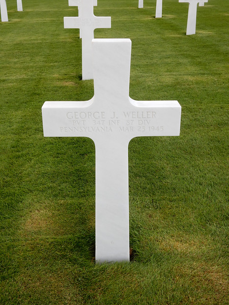 George J. Weller<br /> PVT  347 INF  87 DIV<br /> Pennsylvania  Mar 25 1945