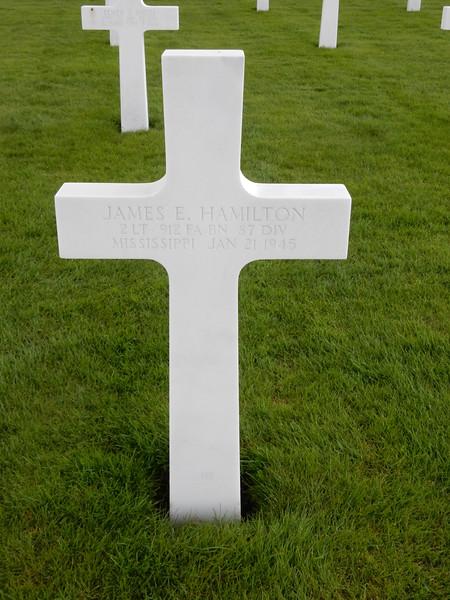 James E. Hamiliton<br /> 2 LT  912 FA BN  87 DIV<br /> Mississippi  Jan 21 1945