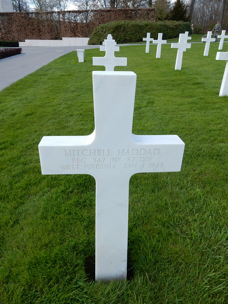 Mitchell Haddad<br /> PFC  347 INF  87 DIV<br /> West Virginia  Jan 4 1945
