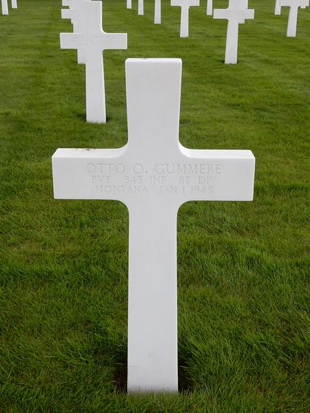 Otto O. Gummere<br /> PVT  345 INF  87 DIV<br /> Montana  Jan 1 1945