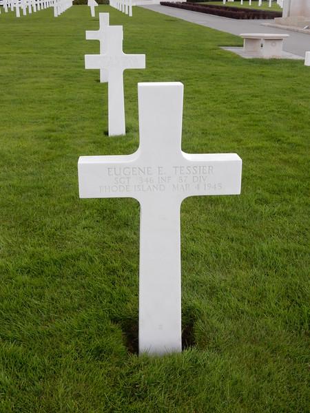 Eugene E. Tessier<br /> SGT  346 INF  87 DIV<br /> Rhode Island  Mar 4 1945