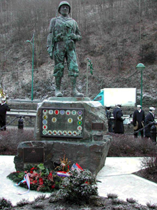 Clervaux, Luxembourg<br /> Soldier's statue ....<br /> The most photographed monument in the Duchy of Luxembourg.
