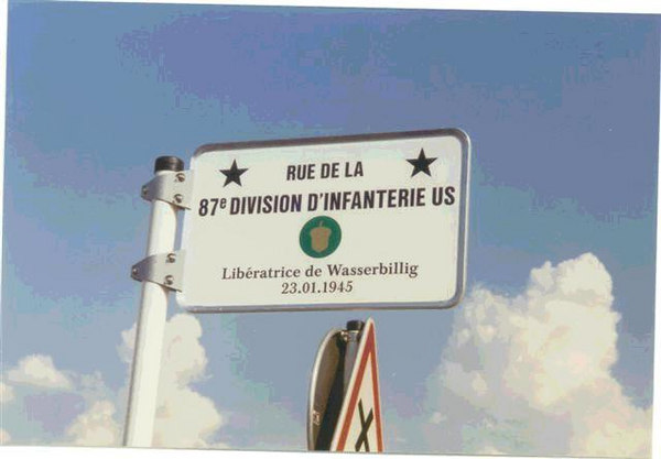 "Wasserbullig, Luxembourg  The issue of the Bulge Bugle (VBOB) May 2004, omitted the event of the Liberation of Wasserbullig, Luxembourg by the 87th Infantry Division.   A listing of the towns liberated, and the units which liberated them, was published by Jean Milmeister of CEBA. who edited the book,  ""The Liberty Road in the Grand-Duchy of Luxembourg 1944-1994.""   Also the plaque to the liberation of Wasserbillig in that town was also omitted in his listings.   This ommission was called to the attention of the BUGLE Editor.  John McAuliffe Mac; M-347"