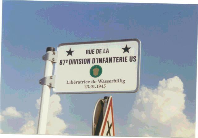"""Wasserbullig, Luxembourg<br /> <br /> The issue of the Bulge Bugle (VBOB)<br /> May 2004, omitted the event of the Liberation of Wasserbullig, Luxembourg by the 87th Infantry Division. <br /> <br /> A listing of the towns liberated, and the units which liberated them, was published by Jean Milmeister of CEBA. who edited the book, <br /> """"The Liberty Road in the Grand-Duchy of Luxembourg 1944-1994."""" <br /> <br /> Also the plaque to the liberation of Wasserbillig in that town was also omitted in his listings. <br /> <br /> This ommission was called to the attention of the BUGLE Editor.<br /> <br /> John McAuliffe<br /> Mac; M-347"""