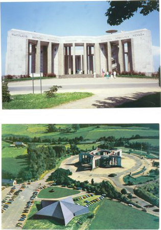 The Mardasson Monument at Bastogne, Belgium. (top pic)<br /> <br /> Bottom pics shows the memorial and the Bastogne Historical Center. <br /> <br /> This is the Government of Belgium's gift to the United States of America in appreciation <br /> of their Liberation by the American Soldiers in WWII.