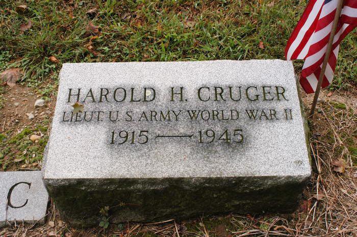 1st Lieutenant Harold Hilliard Cruger<br /> Hillside Cemetery<br /> Peekskill, NY