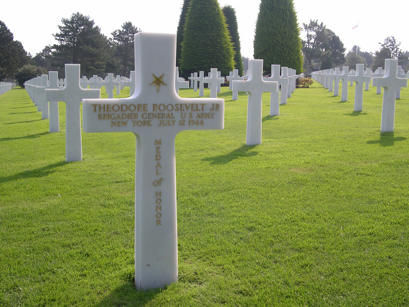 Marker of:<br /> Theodore Roosevelt Jr.;<br /> Medal of Honor