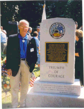 "Standing here next to the monument,<br /> George L. Watson<br /> M-346, 87th Inf. Div.<br /> <br /> <a href=""http://www.87thinfantrydivision.com"">http://www.87thinfantrydivision.com</a>"