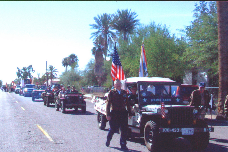 Veteran's of the Battle of the Bulge (VBOB)<br /> Chapter #53 - Southern Arizona members<br /> Veteran's Day Parade - November 11, 2006.