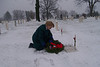 Message from one of our 87th ID Veterans - John McAuliffe:<br /> <br /> We are the Central Mass. Chapt.-22 Veterans of the Battle of the Bulge. <br /> We shall join our comrads at Arlington, VA on December 13-17, 2007<br /> for the annual Commemorative Ceremony of the VBOB and lay wreaths <br /> at the Unknown Soldiers Monument and then at our Monument at Arlington Cemetery. <br /> <br /> Our Monument is a gift of the Belgium and Luxembourg Governments whom US soldiers liberated from the Nazis in WW-II.<br /> My cousin, Mary McAuliffe of Nevada voliunteered to lay wreaths this year.<br /> <br /> Our National President is Stan Wojtusik, who is on the Board of Directors of Wreaths of America. <br /> We are privilaged to join in honoring all our Veterans at this time of year. <br /> <br /> Respectively,<br /> John E. McAuliffe, President, Cent. MA Chapter-22 VBOB<br /> <br /> <br /> Update February 2008:<br /> We hope to have photos of Mr. McAuliffe's participation soon.<br /> Because of his sharing of this event - I contacted the national cemetery here in St. Louis;<br /> Jefferson Barracks and found they were participating in this event.<br /> The 3 photos in this gallery are from that day - Decemeber 15, 2007, and article that appeared in the paper.<br /> <br /> News Article from the St. Louis Suburban Journals:<br /> <br /> Wreath ceremony honors fallen at Jefferson Barracks<br /> Friday, December 28, 2007 <br /> <br /> Seven wreaths commemorating the Wreaths Across America project were placed at Jefferson Barracks National Cemetery Dec. 15, 2007.<br /> <br /> The ceremony was held in conjunction with a national minute of silence and the laying of wreaths at Arlington National Cemetery at noon, Dec. 15, 2007.<br /> <br /> Wreaths Across America has honored America's military since it was started 15 years ago by a Harrington, Me, company. Debra Henderson, representing the Air Force branch, placed a wreath at the marker of an Air Force B-17 crew, which had crashed in
