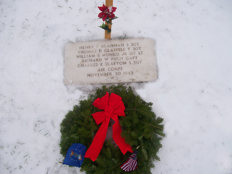 "Message from one of our 87th ID Veterans - John McAuliffe:<br /> <br /> We are the Central Mass. Chapt.-22 Veterans of the Battle of the Bulge. <br /> We shall join our comrads at Arlington, VA on December 13-17, 2007<br /> for the annual Commemorative Ceremony of the VBOB and lay wreaths <br /> at the Unknown Soldiers Monument and then at our Monument at Arlington Cemetery. <br /> <br /> Our Monument is a gift of the Belgium and Luxembourg Governments whom US soldiers liberated from the Nazis in WW-II.<br /> My cousin, Mary McAuliffe of Nevada voliunteered to lay wreaths this year.<br /> <br /> Our National President is Stan Wojtusik, who is on the Board of Directors of Wreaths of America. <br /> We are privilaged to join in honoring all our Veterans at this time of year. <br /> <br /> Respectively,<br /> John E. McAuliffe, President, Cent. MA Chapter-22 VBOB<br /> <br /> <br /> Update February 2008:<br /> We hope to have photos of Mr. McAuliffe's participation soon.<br /> Because of his sharing of this event - I contacted the national cemetery here in St. Louis;<br /> Jefferson Barracks and found they were participating in this event.<br /> The 3 photos in this gallery are from that day - Decemeber 15, 2007, and article that appeared in the paper.<br /> <br /> News Article from the St. Louis Suburban Journals:<br /> <br /> Wreath ceremony honors fallen at Jefferson Barracks<br /> Friday, December 28, 2007 <br /> <br /> Seven wreaths commemorating the Wreaths Across America project were placed at Jefferson Barracks National Cemetery Dec. 15, 2007.<br /> <br /> The ceremony was held in conjunction with a national minute of silence and the laying of wreaths at Arlington National Cemetery at noon, Dec. 15, 2007.<br /> <br /> Wreaths Across America has honored America's military since it was started 15 years ago by a Harrington, Me, company. Debra Henderson, representing the Air Force branch, placed a wreath at the marker of an Air Force B-17 crew, which had crashed in 1943. <br /> Henderson did it in return for the kindness of a gentleman in England, who helped research her own uncle's B-17 crash (Tech. Sgt. Wayne F. Laubert and crew) in 1944 over England. <br />  <a href=""http://thurleigh.moonfruit.com"">http://thurleigh.moonfruit.com</a>)<br /> <br /> The gentleman found the area of the crash site, took photos for her family and laid flowers there a few years ago.<br /> <br /> One who asked Debra for a photo of this particular marker at Jefferson Barracks was the family of a 92 year-old woman who had lost her boyfriend, Capt. Richard W. Pugh, during World War II. The woman had not attended his funeral when his body was returned for reburial at Jefferson Barracks after the war.<br /> <br /> She had not kept in touch with his family, had gone on in life, and later married, but still had a place in her heart that ached after all these years for him.<br /> <br /> Major David Miller named each branch and who was being represented. The motorcycle ""Patriot Guard Riders"" represented the POW/MIA and taps was played by a military bugler.<br /> <br /> ==============================<br /> <br /> For more information and photos of this national project that has been carried out for 15 years go to:<br /> <br /> <a href=""http://www.wreaths-across-america.org"">http://www.wreaths-across-america.org</a><br /> <br /> and<br /> <br /> <a href=""http://www.usatoday.com/news/nation/2006-12-14-wreaths-cover_x.htm"">http://www.usatoday.com/news/nation/2006-12-14-wreaths-cover_x.htm</a>"