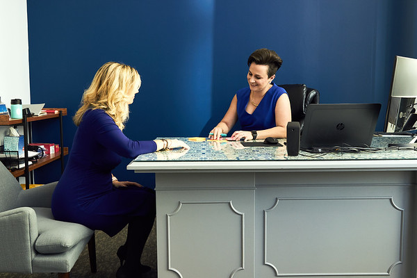 Editorial Shoot for the Voice Tribune at WHAS 11 in Louisville, KY, with General Manager Christy Moreno and News Director Julie Wolfe.