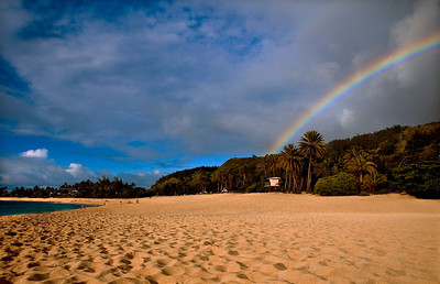 Rainbow over Sunset Beach North Shore of O'ahu, Hawai'i