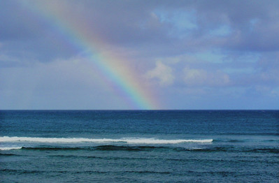 Rainbow off Sunset Point   North Shore of O'ahu, Hawai'i
