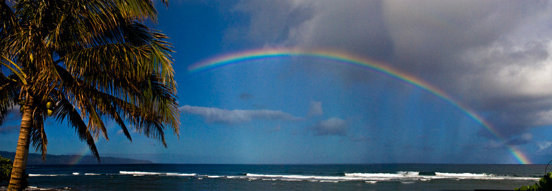 Rainbow off Sunset PointNorth Shore of O'ahu, Hawai'i