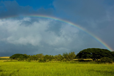 Rainbow over Hale'iwa TownNorth Shore of O'ahu, Hawai'i