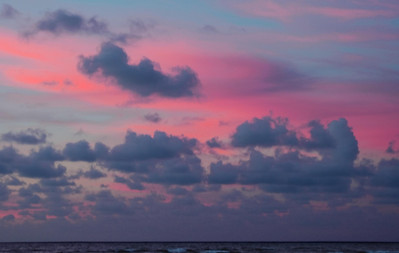 Colorful clouds at sunset  North Shore of O'ahu, Hawai'i