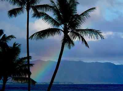 Rainbow over the North Shore  North Shore of O'ahu, Hawai'i
