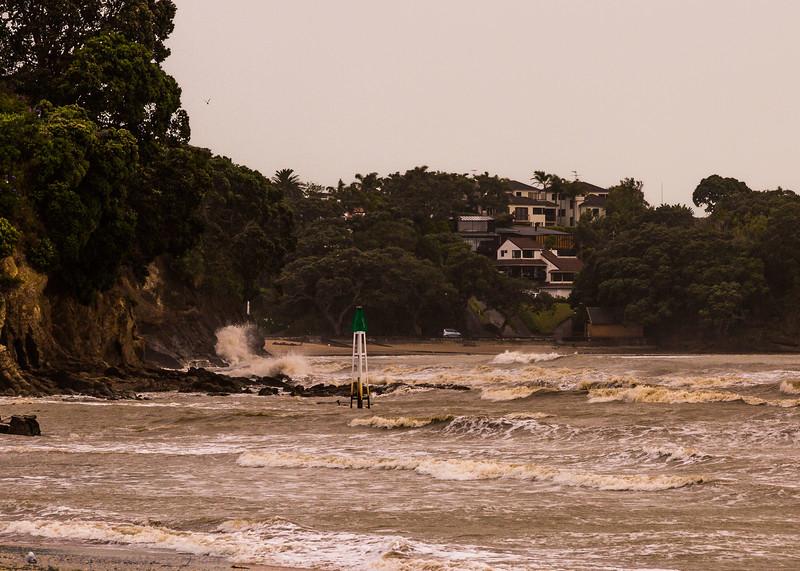 Storm hits Castor Bay.