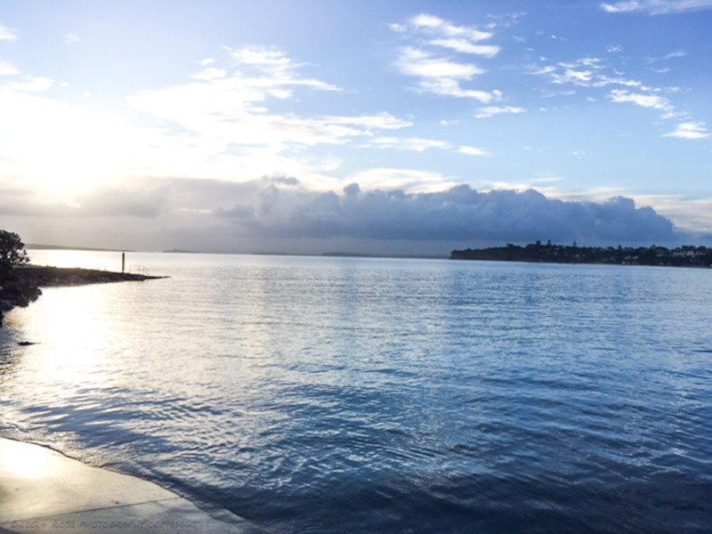 Takapuna and the Hauraki Gulf the day after a severe storm