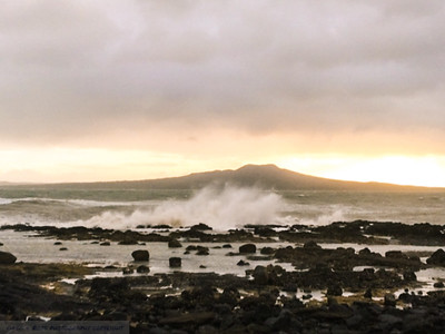 Waves pound Black Rock Reef