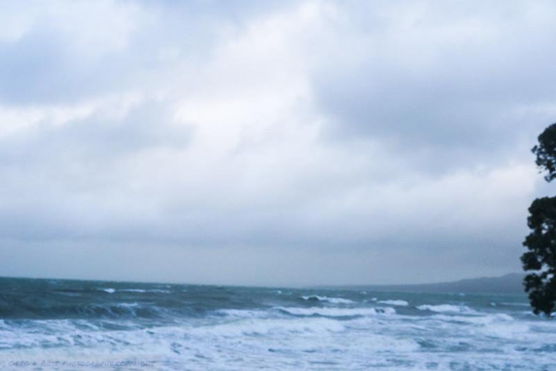Sea rolling in.