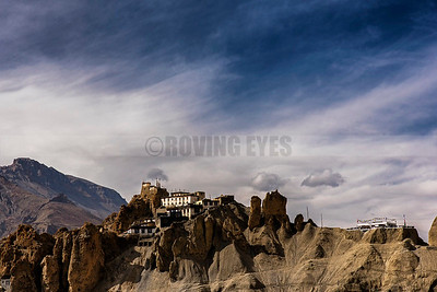 D25:Dhangkar Gompa stands like an impregnable fortress atop a mountain (3,894 metres)in Spiti,HImachal Pradesh