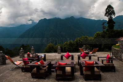 D11:An unique place to chill,atop a hill in Yuksom,West Sikkim,with the majestic mountains in the background .