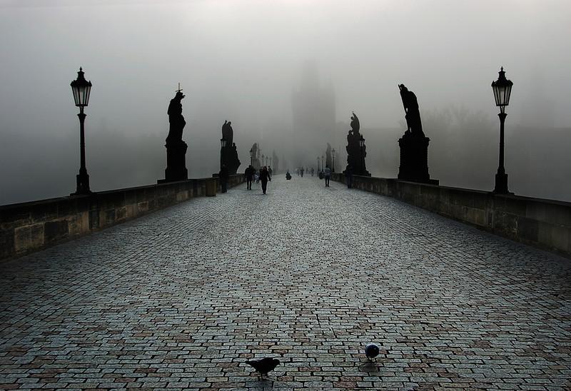 Prague - Charles Bridge Fog