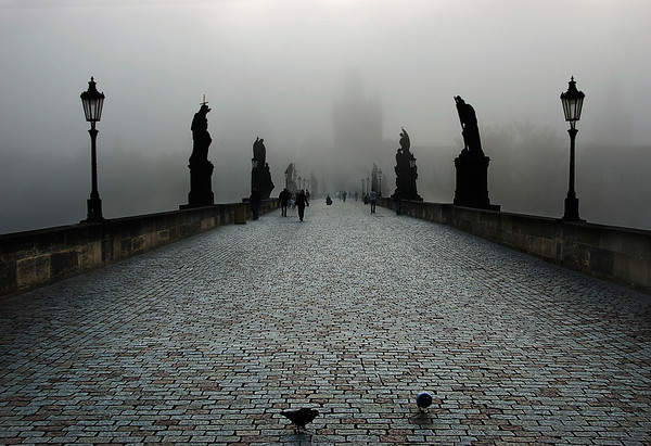 Prague - Charles Bridge Fog