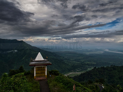 D15:The small temple guards the expanse of nature, on the way to Mirik from Soureni,West Bengal