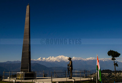 D6:War Memorial,Batasia Loop pays homage to the fallen soliders against the backdrop of majestic Khangchendzonga,in Ghum,West Bengal