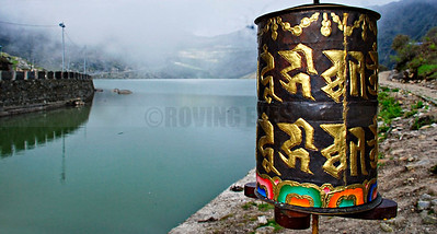 D2:The prayer wheel beckons the devout on a circumnavigation of the holy Tsongmo Lake(Changu Lake) in East Sikkim,40 kilometres  from the capital Gangtok,at an elevation of 3,753 m