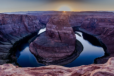 Horsehoe Bend, Arizona,  at sunset. HDR photo