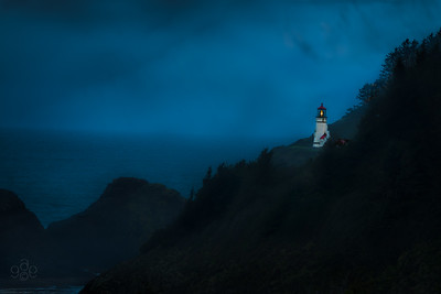 Storm at Heceta Head