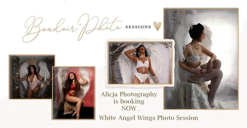 White Wings Boudoir Photo Session