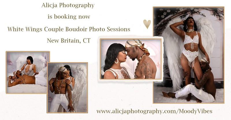 White Wings Couple Boudoir Session