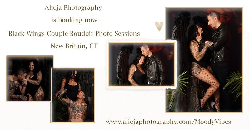 Black Wings Couple Boudoir Session